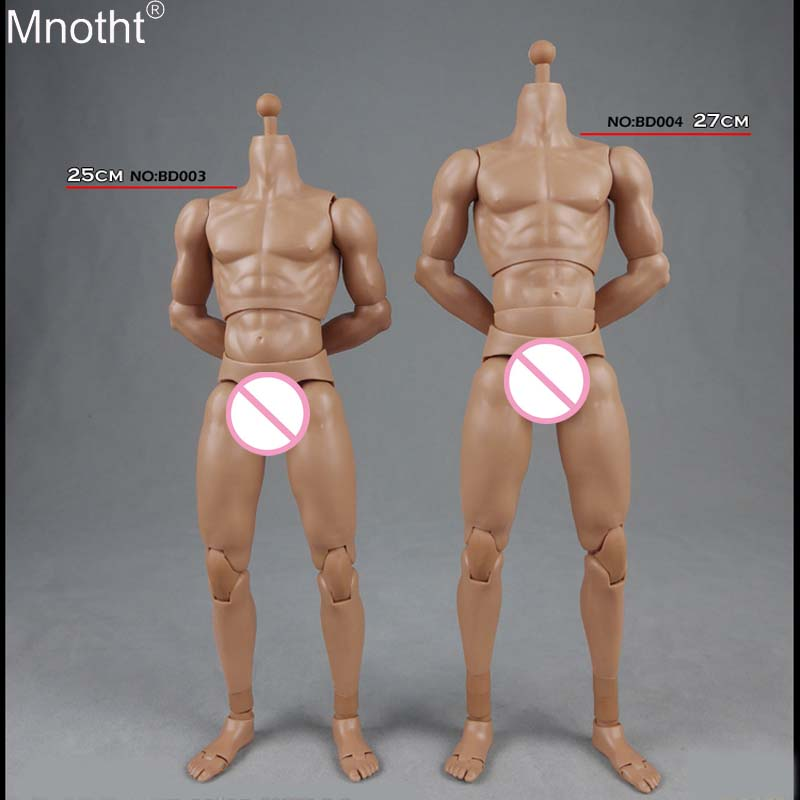 Mnotht 1/6 Flexible Muscle Male Body BD003 High Body BD004 No Head Nude Model Toy for 12 Inch Soldier Action Figure me 1 6 scale male action figure model toys super flexible seamless muscle body pl2016 m33 for collections