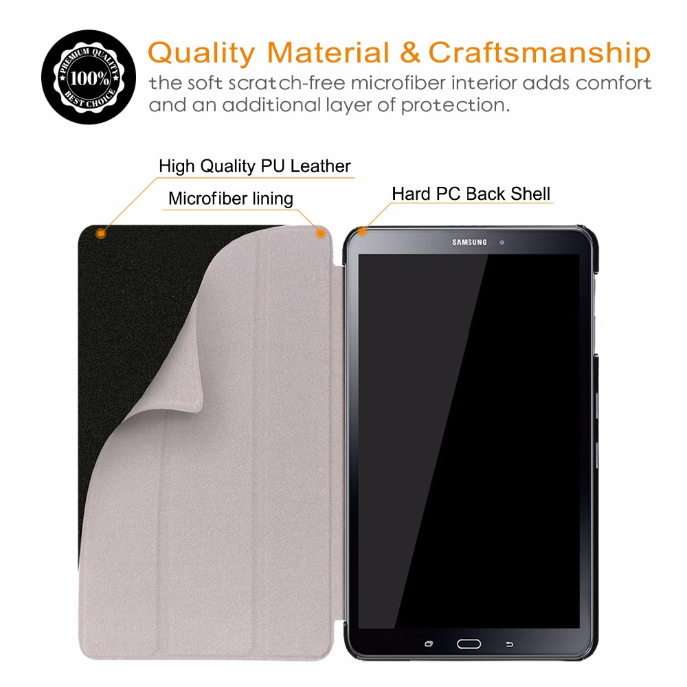 Tablets & E-books Case Magnetic Case For Samsung Galaxy Tab A6 10.1 T580 T585 Pu Leather Smart Cover For Samsung Tab Sm-t580 Sm-t585 Funda Case 2 Gifts