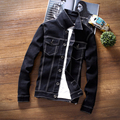 TG6249 Cheap wholesale 2016 new Han edition men jean jacket thin black denim jacket coat jacket students tide