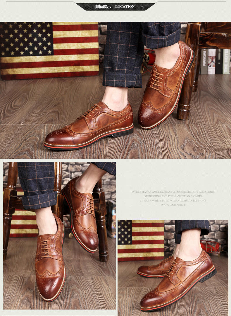 d6b34d4a1b3c99 LUOBANIU Brand 2017 Plus Size 38~47 Men Brogue Shoes Split Leather Shoes  Fashion Wedding Shoes Men Lace-Up Oxfords Dress ShoesUSD 79.15 pair