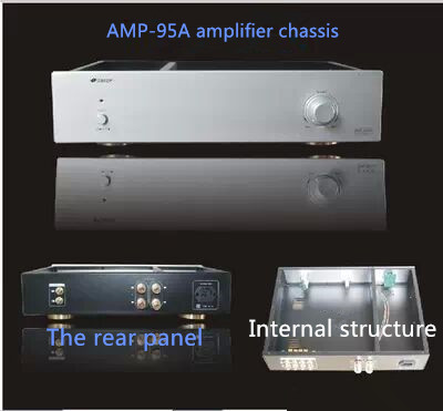 Подробнее о 430*95*340mm AMP95-A standard chassis/Aluminum iron combination amplifier chassis/Pre-amplifier chassis/AMP Enclosure box DIY 95
