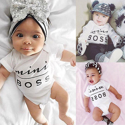 Newborn Kids Clothes Baby Infant Boy Girl Cotton Romper Jumpsuit Outfit Baby Romper