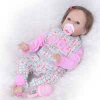 Cute Reborn Dolls 22'' Realistic Vivid Toddler Silicone Vinyl Reborn Babies 55 cm Cloth Body Realistic New Born Baby Kid Partner