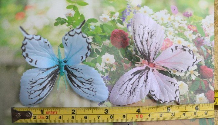 Wholesale 26pcs artificial fabric butterfly stage performance Accessories Decoration DIY