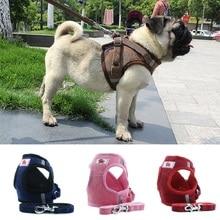 Нейлоновая Светоотражающая сетка для щенков, кошек, жгут для собак, для чихуахуа, мопса, бульдога, маленьких и средних собак, поводок для прогулок