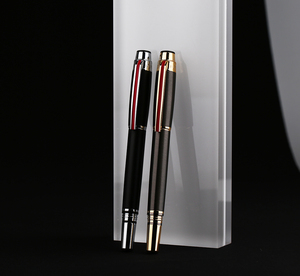 Image 5 - גיבור 200E 14K זהב אוסף מזרקת עט מט שחור/אפור זהב/כסף קליפ בסדר ציפורן מתנה עט ותיבה עבור עסקים משרד