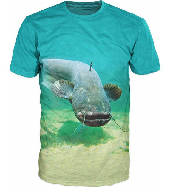 Cool Mens T-shirt 3D Catfish Sublimation Printed Catfish Fishing Hobby Hip Hop Famous Brand T Shirt For Unisex