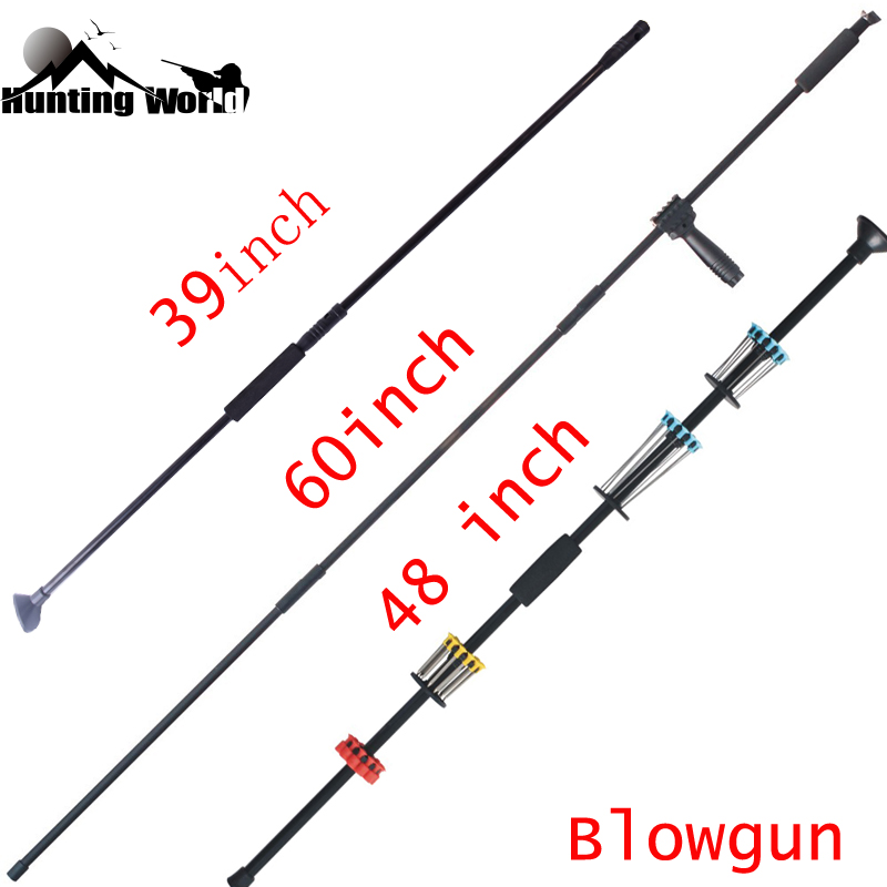 39'' 48'' 60'' Archery Indoor Outdoor Blow Gun Blowgun Metal Needles For Hunting Shooting Darts Game Sports Outdoor Equipment