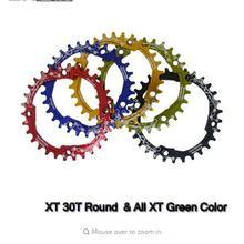 EKFan 104BCD многоцветный XT Овальный Круглый 30T 32T 34T 36T круглая шатунная пластина узкая широкая MTB велосипедная цепь