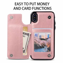 HALOASE For iPhone 7 6 8 Plus Case Retro PU Leather Wallet Flip Case for iPhone X 6S 5 5S SE Multi Card Holders Case
