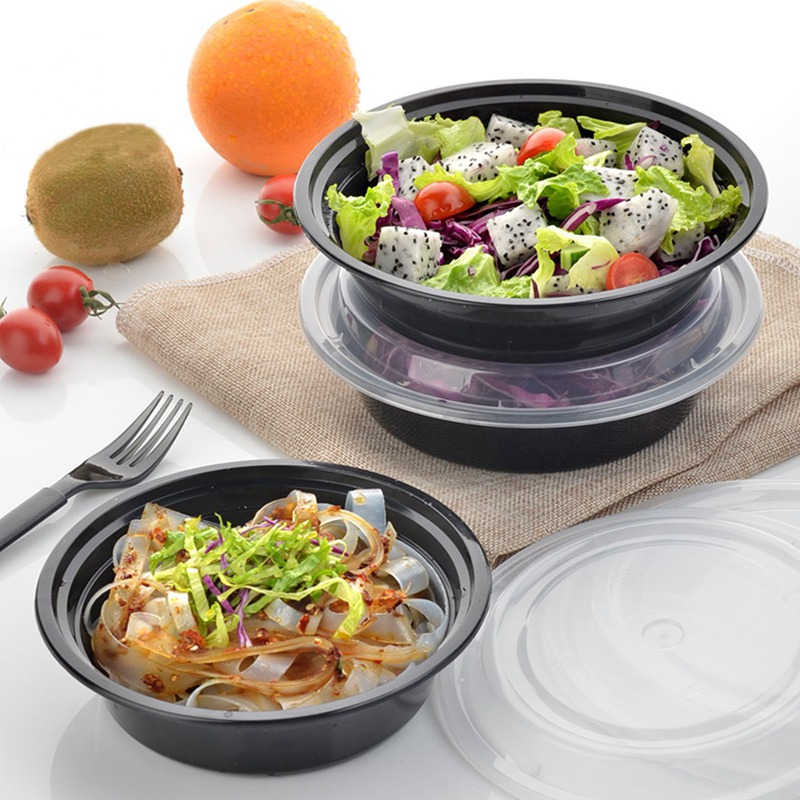 A Kitchen Is Launching An Express Lunch Service: Plastic LunchBox Set 10Pcs Food Storage Box Case Lids