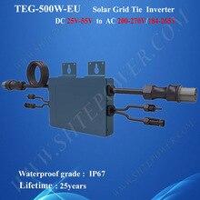 500 w dc 22-55 v водонепроницаемый инвертор солнечный микроинвертор