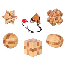 3D Wooden Interlocking Design IQ Rope Wooden Puzzle Logic Brain Teaser String Puzzles Game for Adults Kids 3d soma cube puzzle iq logic brain teaser puzzles game for children adults