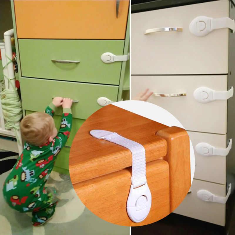 10 шт./партия, дверный шкаф с выдвижными ящиками, шкаф для унитаза, безопасность детей малышей, уход, пластиковые блокировочные ремни, детская защита