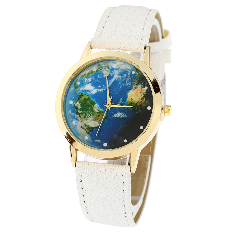 Plutonium Platinum: Gnova Platinum Top Sale Green Earth Watch Women PU Leather