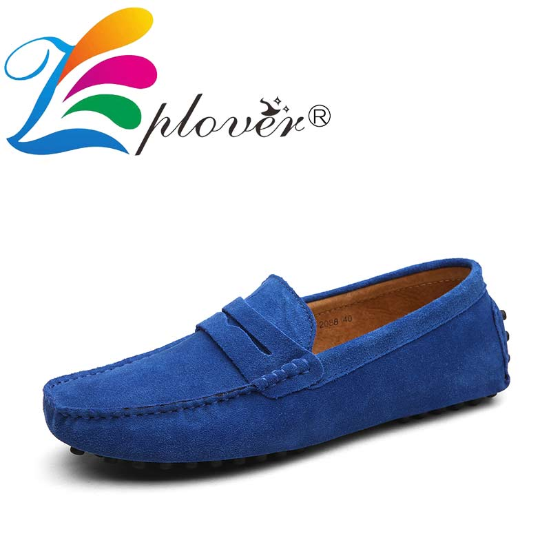 Chaussures Gommino Mocassins bleu Cuir gris bleu Décontracté De Conduite marron Hommes orange Mode vin kaki Marine Noir Vrai D'été Rouge Homme Printemps pu bleu Appartements Royal Style Ciel qFYP8t