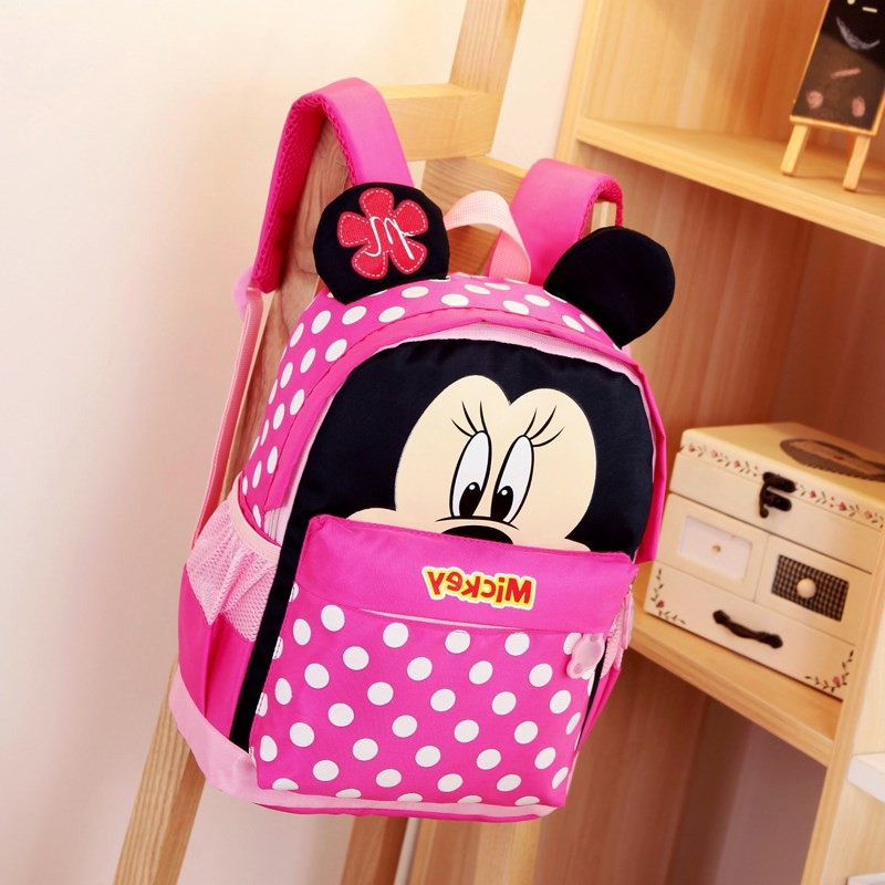 Hot Sale Kids Cartoon Backpack 3-6 Years Old Children Cartoon Mickey School Bags Cute Schoolbags Satchel For Boys Girls 4 Colors