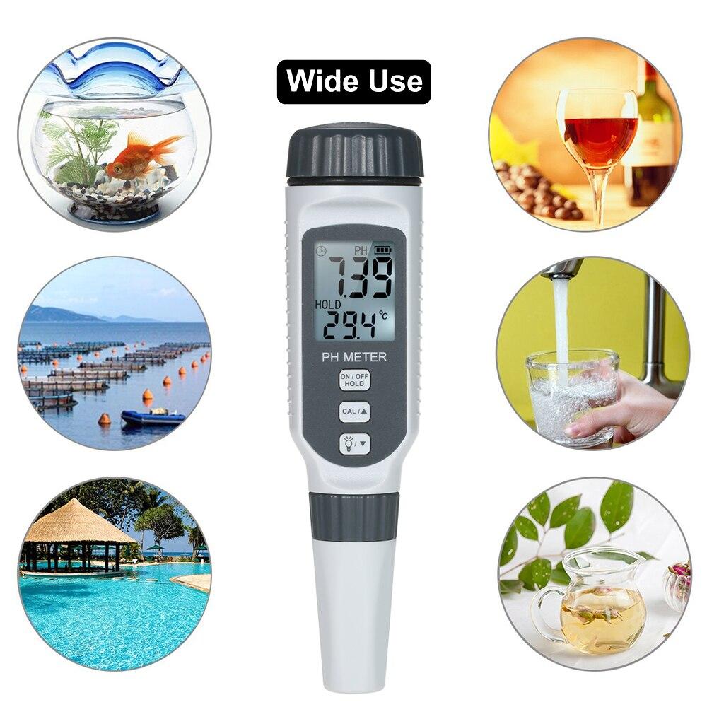 SMART SENSOR Professional PH Meter Tester Pen Hydroponic Pool Water Aquarium
