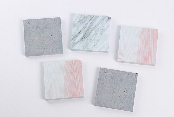 1pcs square Stone color Self-Adhesive Memo Pad Sticky Notes Post It Bookmark School Office Supply Escolar Papelaria