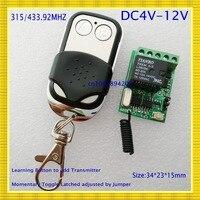 4V 5V 6V 7 4V 9V 12V Small Relay Remote Control Switch 10A Micro Wireless Relay