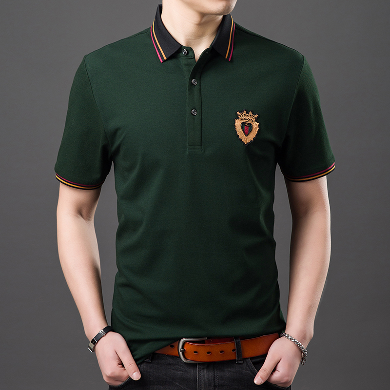 Very Good Quality Bamboo Fiber US   Polo   Men 2019 New Famous Brand Embroidery Gentleman Great Designer Short Sleeve Shirts Y123