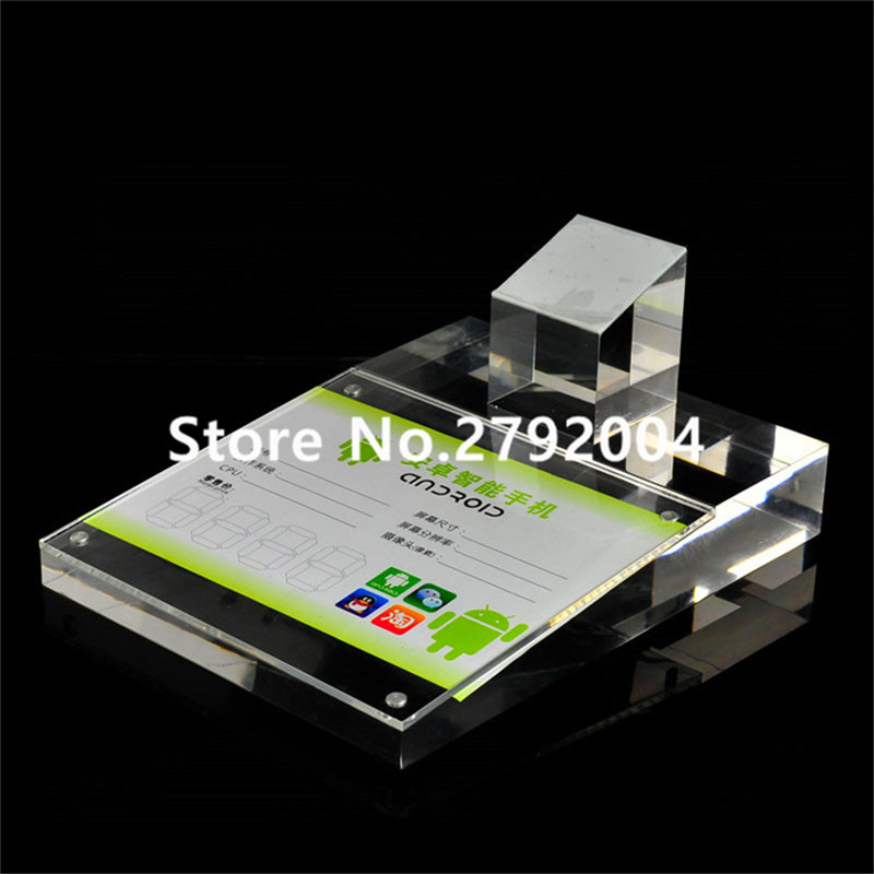High Quality Acrylic holder for cellphone Display Stand 14*19CM 10pcs lot high quality acrylic holder