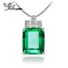 Создан изумрудный россии jewelrypalace nano стерлингового серебра кулон роскошные цепи зеленый