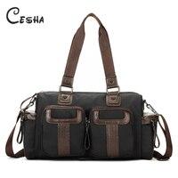 Cesha Luxury High Quality Nylon Men S Women S Travel Handbag Fashion Vintage Design Unisex Large