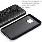 Pour Mate 20 Véritable En Cuir Téléphone étui pour huawei P10 P20 Lite Pro affaire Triangle Texture Mate 20 pro capa - 4