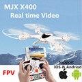 MJX X400 100% Original 2.4G 4CH 6-Axis RC Controle Remoto Brinquedos wi-fi Zangão helicóptero Quadcopter Pode adicionar FPV real-time em vídeo