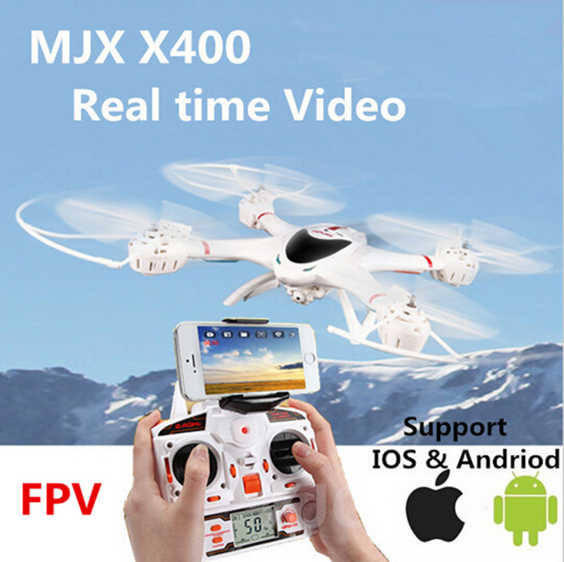 MJX X400 100% Original 2.4G 4CH 6-Axis Remote Control RC Helicopter Quadcopter Toys wifi Drone Can add FPV real-time on video