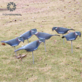 6 Pcs Garden EVA Soft Pigeon Shell Hunting Decoy Painted Wood pigeon Hunting Shooting Full Body + Stick Moving
