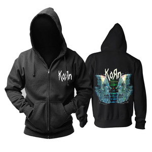 Image 2 - Bloodhoof Korn Nu Metal  heavy metal Mens black hoodie Asian Size