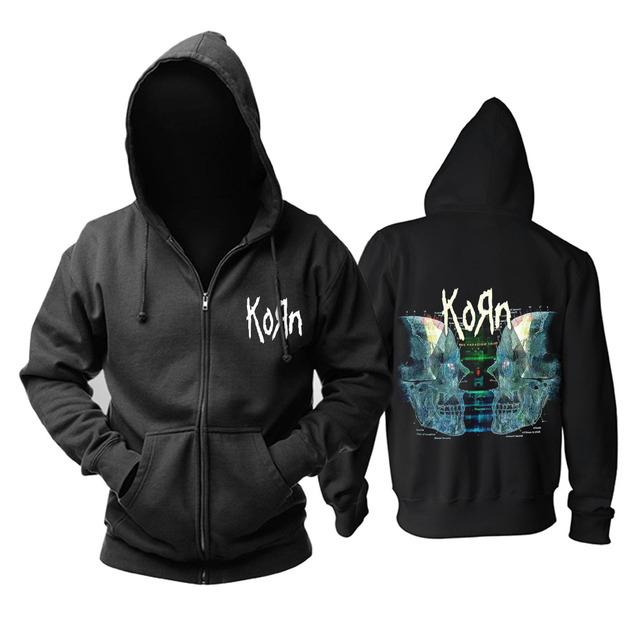 Bloodhoof Korn Nu-Metal  heavy metal Men's black hoodie Asian Size