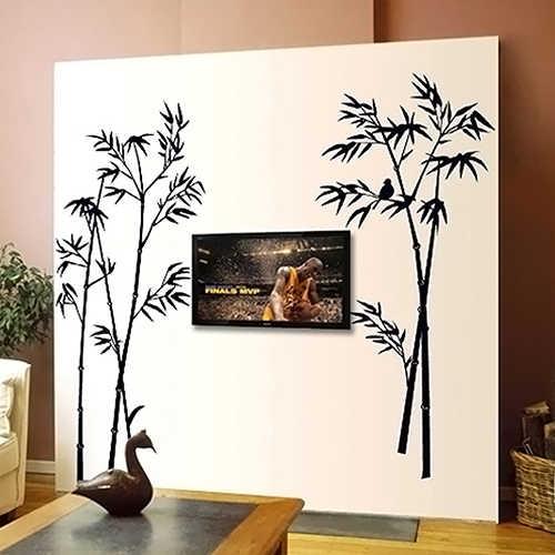 Съемная Птица Наклейка на стену с рисунком бамбука Гостиная наклейки для спальни DIY домашний декор