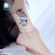 RC073/New Colorful Design Fake Temporary Tattoo Sticker Body Art Water Transfer Mermaid Designs For Girls
