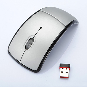 Image 2 - New optical mouse foldable wireless mouse light arc shaped gaming mouse for pc laptop