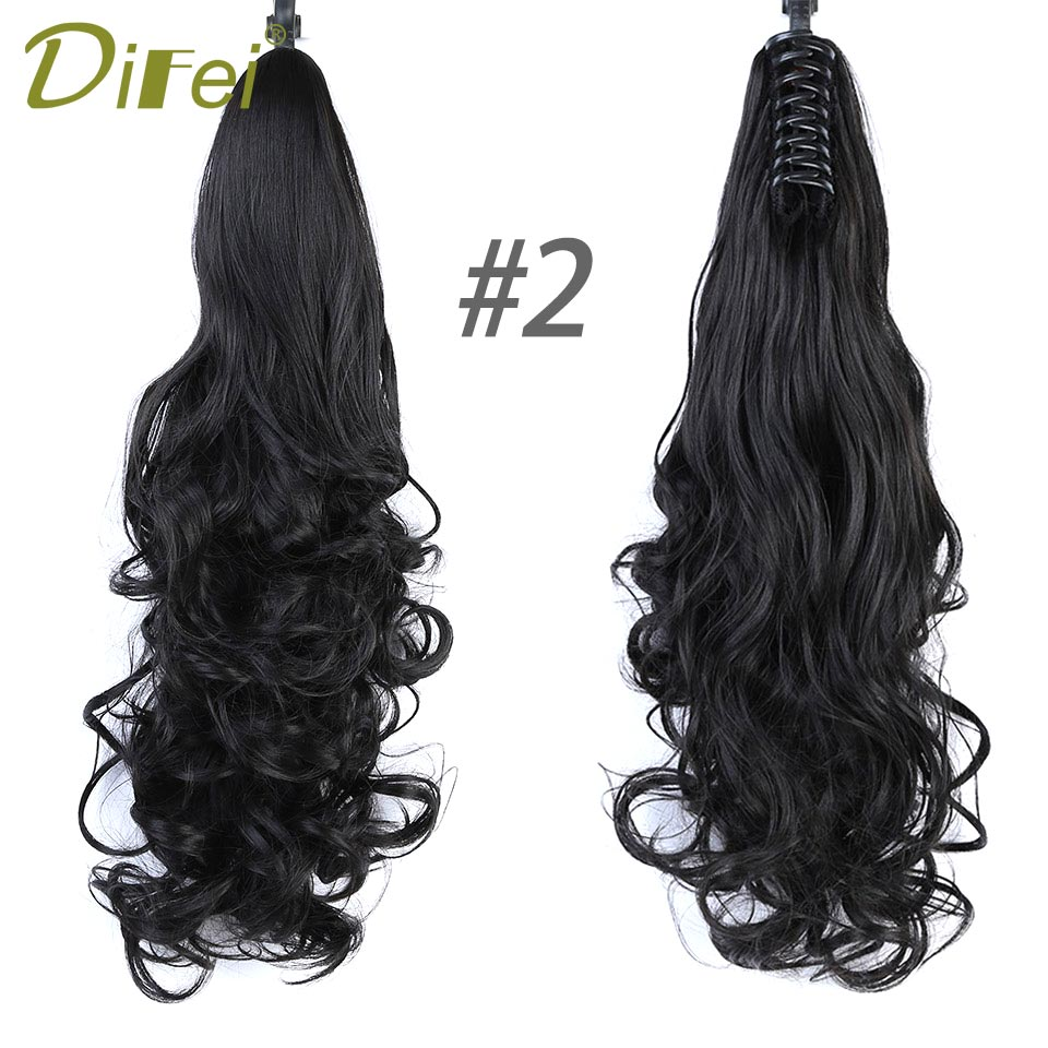 ALI shop ...  ... 32887242836 ... 3 ... DIFEI Synthetic Women Claw on Ponytail Clip in Hair Extensions Curly Style Pony Tail Hairpiece Black Brown Blonde Hairstyles ...