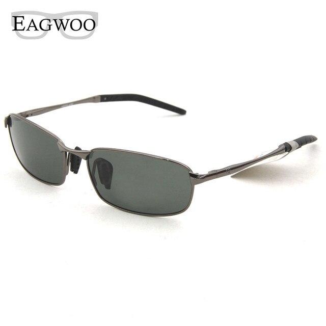 fdd7b4cb800 Eagwoo Polarized Sunglasses Men Sun Glasses Silicon Anti Slip Temple Anti  Glare De Sol Masculino Gray Green Lenses New 883098