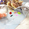 1Pc Nail Art Palette Clear Nail Art Paint Palette Elegant Butterfly Manicure Acrylic Mixing Palette Spatula Tool