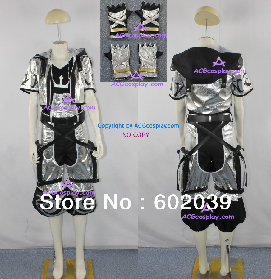 Kingdom Hearts 2 Сора карнавальный костюм серебра Сора Костюм включает ожерелье опору и Перчатки