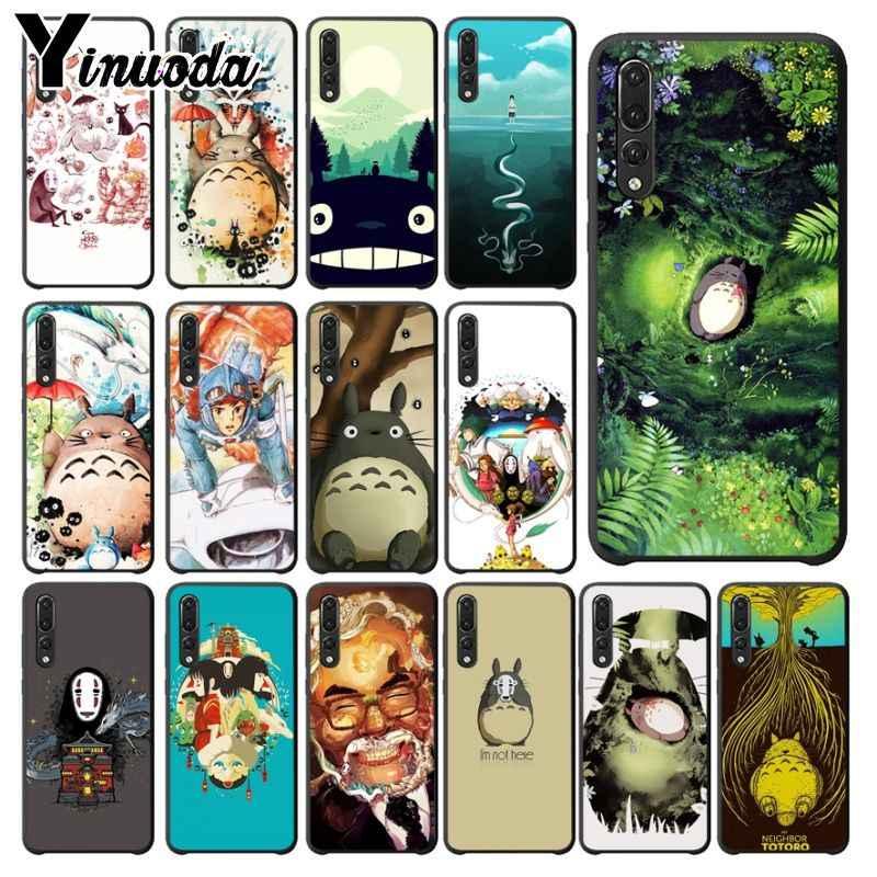 Yinuoda Totoro Spirited Away Ghibli Miyazaki Kaonashi Phone Cover for Haiwei P10 plus Honor 9 10 View 10 Mate 9 Coque Shell