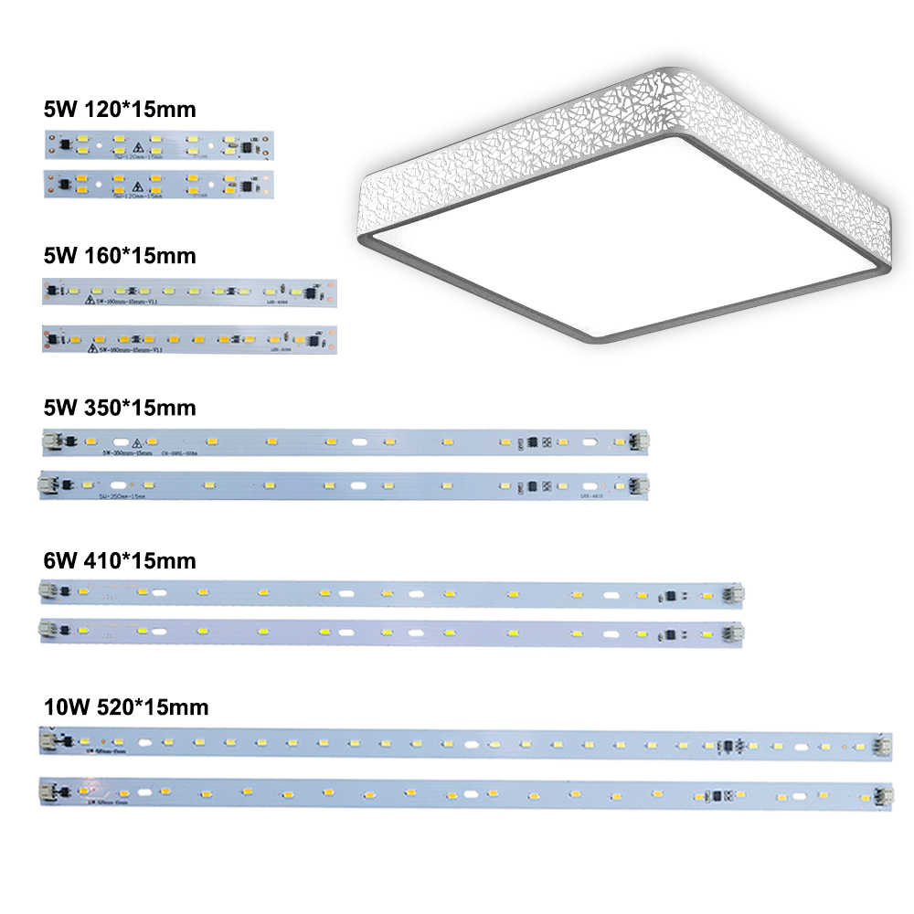 10pcs LED Bar Light AC 220V Led Strip Light Aluminum Plate T5 T8 Tube SMD 5730 PCB Lamp Light Source High Quality 180-260 V JQ0