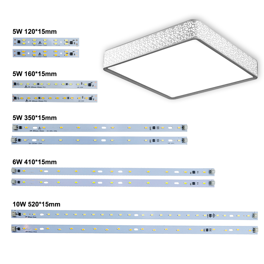 10pcs <font><b>LED</b></font> Bar Light AC 220V <font><b>Led</b></font> Strip Light Aluminum Plate T5 <font><b>T8</b></font> Tube SMD 5730 PCB <font><b>Lamp</b></font> Light Source High Quality 180-260 V JQ0 image