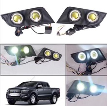 one set waterpoor LED fog light day light DRL for Ford Ranger T6 T7 2012 2013 2014 2015 2016 2017 2018 цена в Москве и Питере