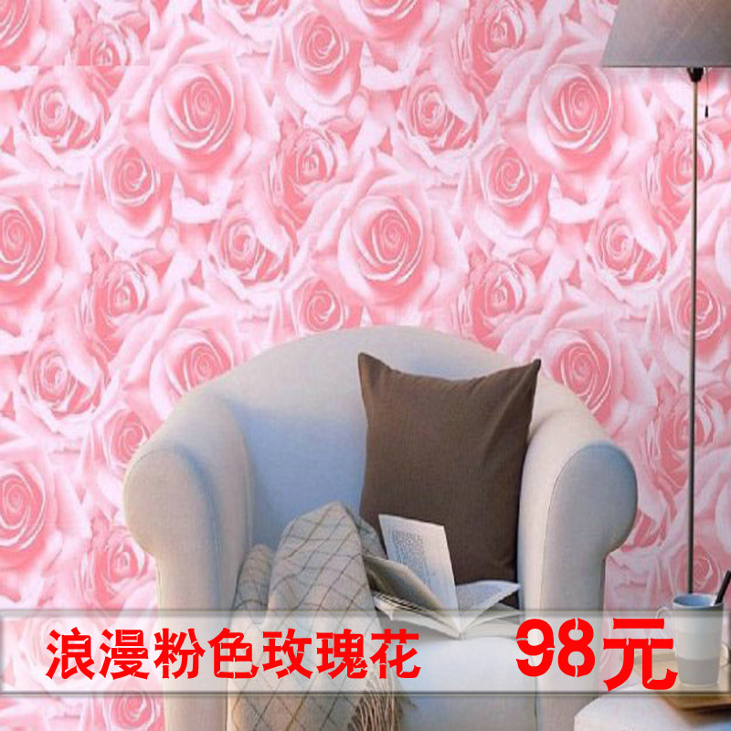 Rose Pink Flower Wallpaper Bedroom Wall Modern In Wallpapers From Home Improvement On Aliexpress