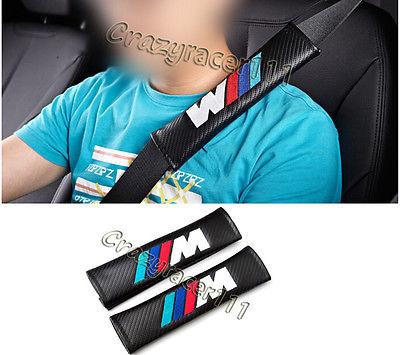 2 UNIDS de Cuero Universal Cinturón de Seguridad Hombrera para BMW E82 E92 M3 M5 M6 X5 X3 X1