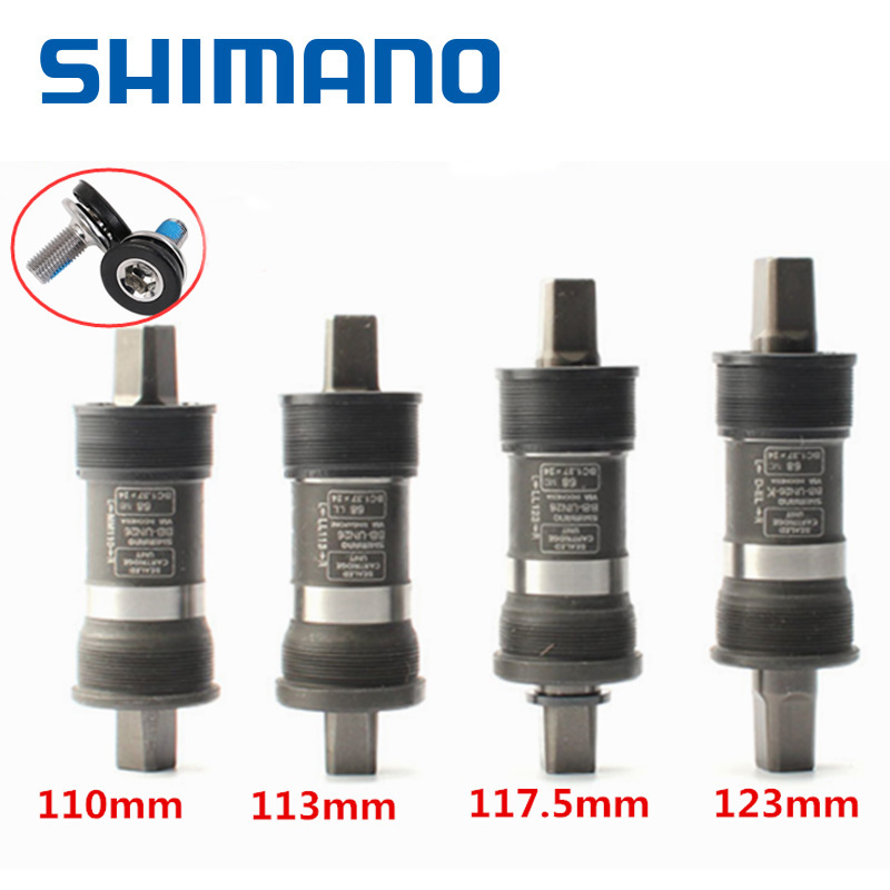 SHIMANO Deore BB-UN26 Bottom Bracket 68-110/113/117.5/123mm xt SLX MTB Bicycle Hollowtech Mountain bike accessories partsSHIMANO Deore BB-UN26 Bottom Bracket 68-110/113/117.5/123mm xt SLX MTB Bicycle Hollowtech Mountain bike accessories parts