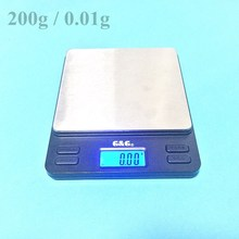 Portable Mini Electronic Balance 200g / 0.01g Gold Jewelry Pocket Postal Kitchen Jewelry Weight Balance Digital Scale 500g x 0 01g kitchen scale portable mini digital pocket electronic case postal jewelry balance 0 01g weight scale with 2 tray