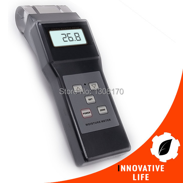 Digital Electromagnetic Search Type Inductive Wood Moisture Meter Equipment No destruction 0-80% Range Tester Tobacco Cotton portable pin type wood moisture meter mc7806